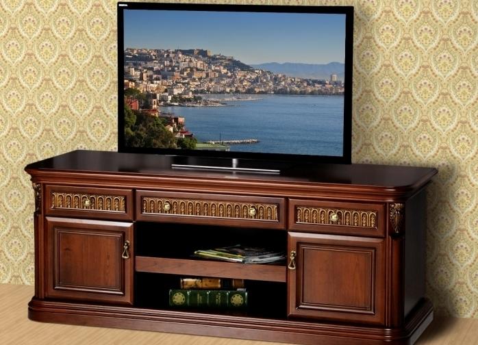 тумба под телевизор в классическом стиле фото