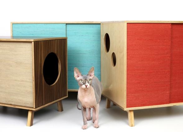Домик для кошачьего туалета своими руками