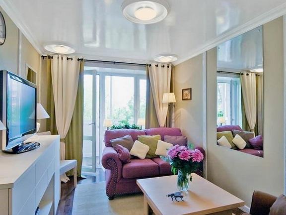 Дизайн комнаты для маленькой комнаты с балконом