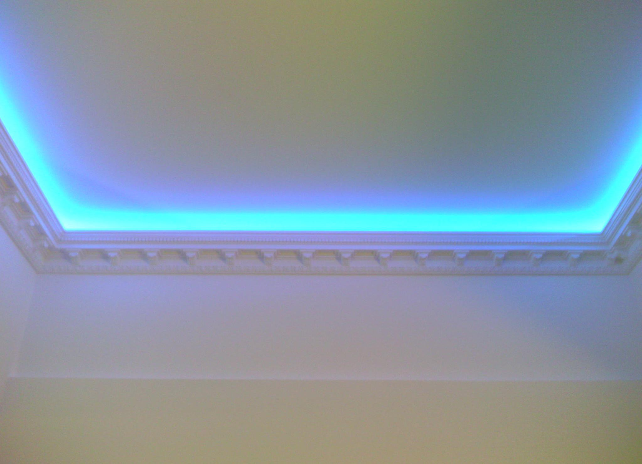 Диодное освещение потолка своими руками 6