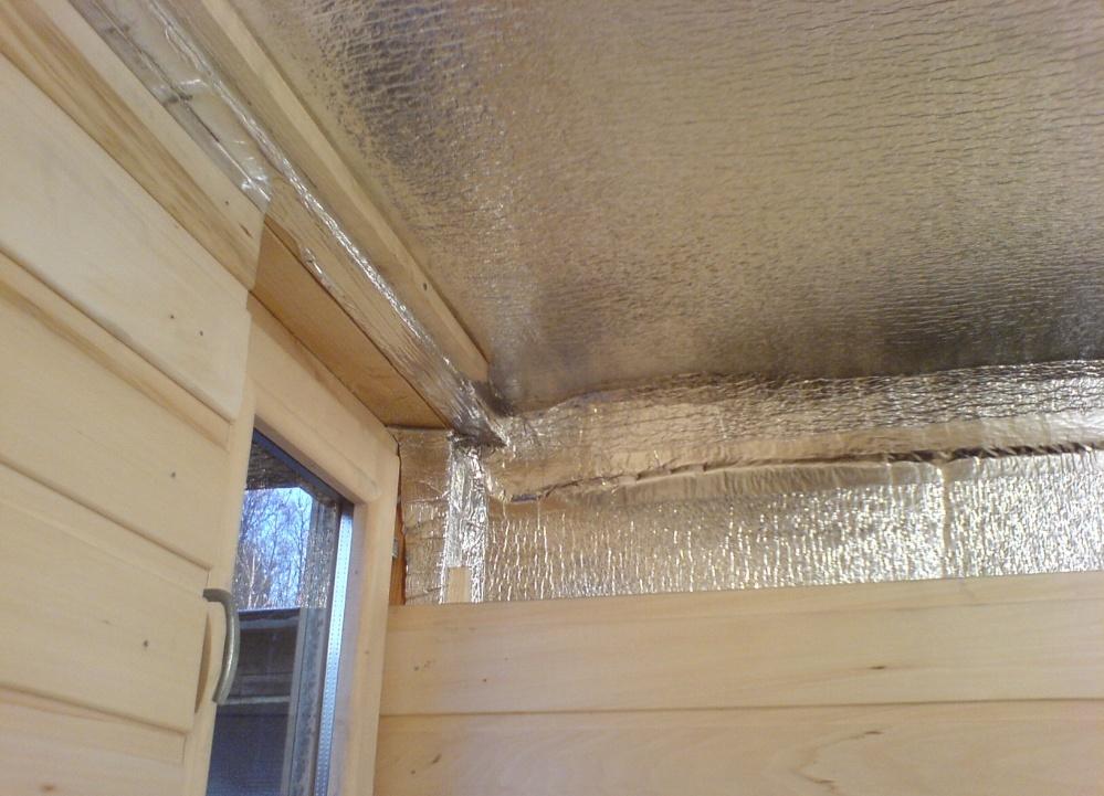 Как утеплить потолок в бане своими руками изнутри