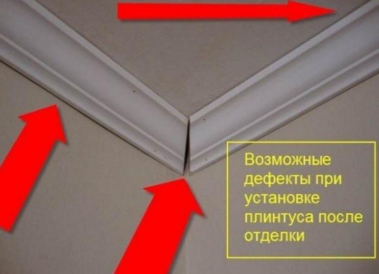 Потолочные плинтуса установка
