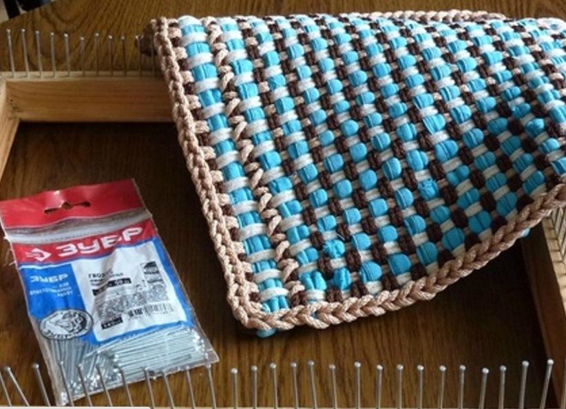 Своими руками плетеный коврик