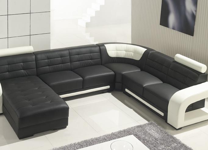 Интерьеры с п-образными диванами