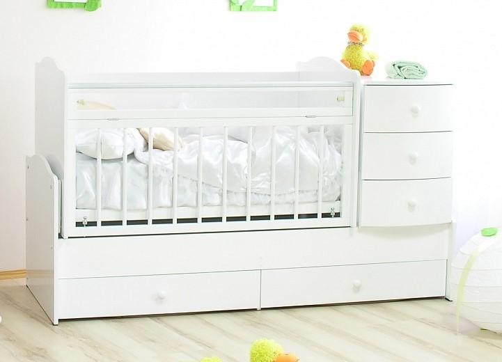 фото детские кроватки с комодом