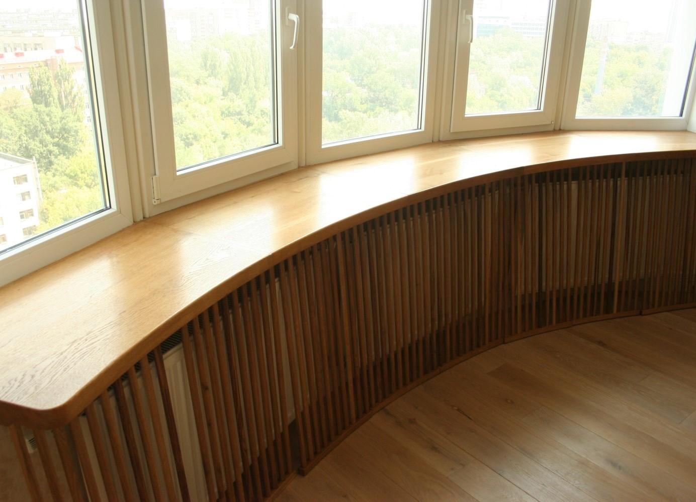 Деревянный подоконник фото