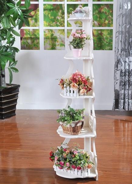 Подставка под цветы из дерева на подоконник своими руками