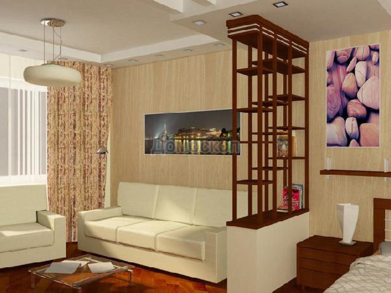 Возможно ли из кухни сделать спальню в однокомнатной комнате (фото) 81