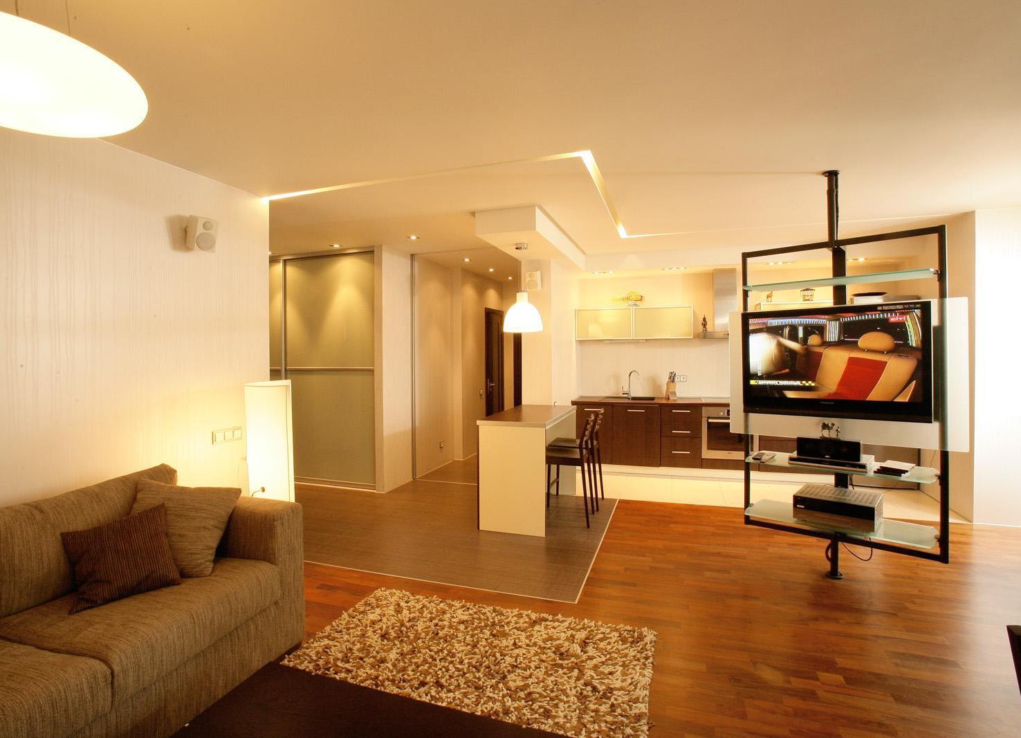 Недорогой интерьер для однокомнатной квартиры фото
