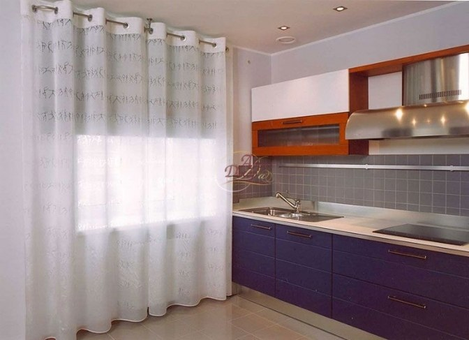 шторы для кухни на кольцах