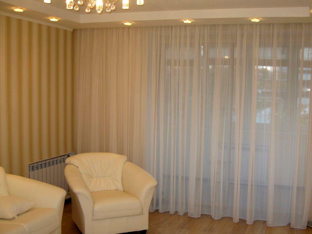 шторы для зала фото тюль