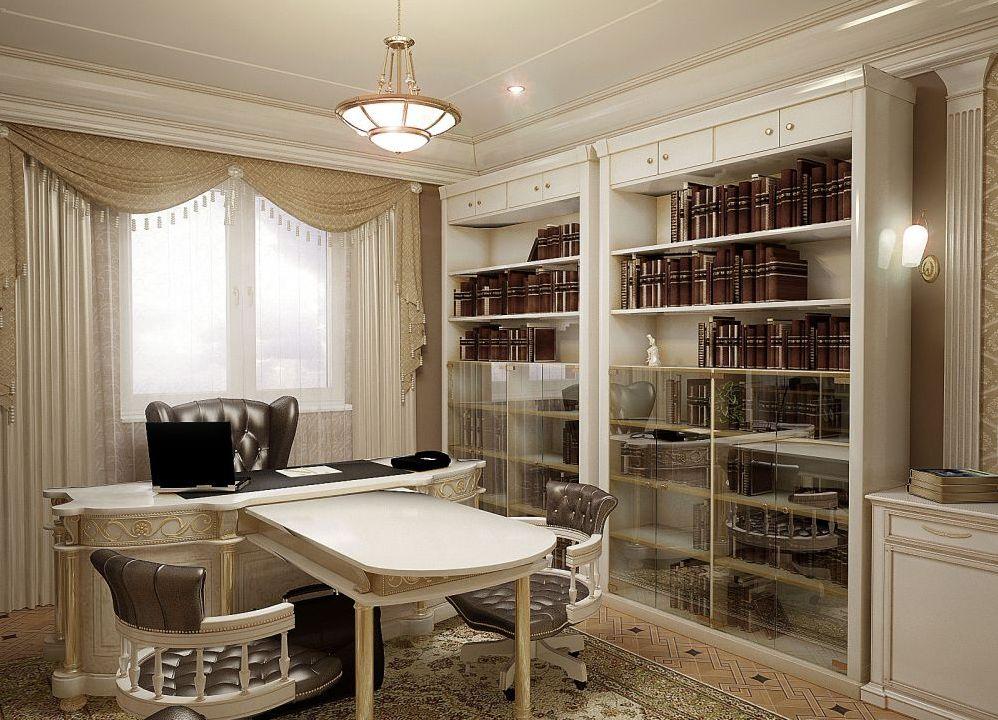 интерьер кабинета в квартире фото