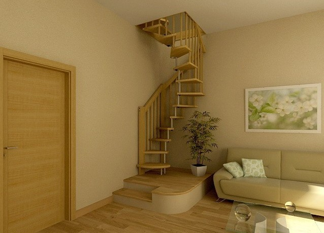 фото лестница на мансарду