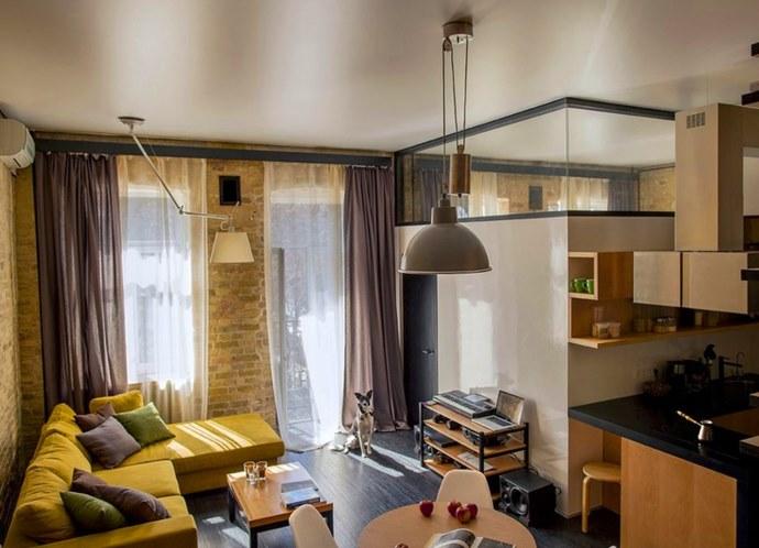 Дизайн проходной гостиной в хрущевке реальные