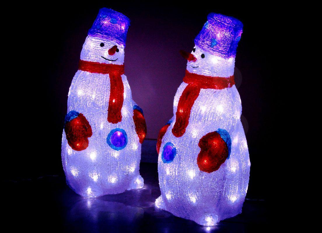 Снеговик с подсветкой своими руками