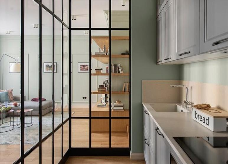 - Glastrennwand wohnbereich ...