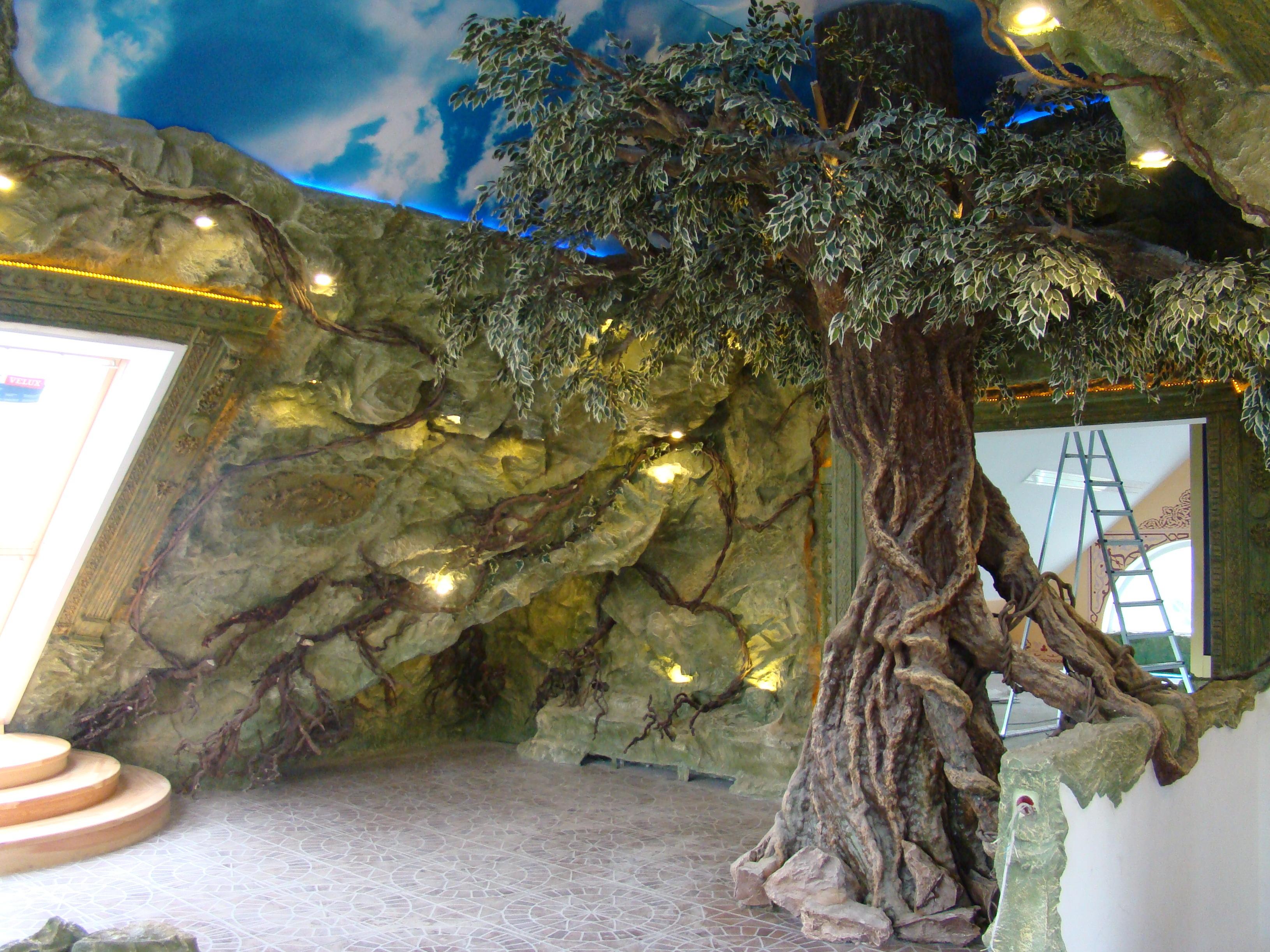 Фото искусственные скалы в интерьере