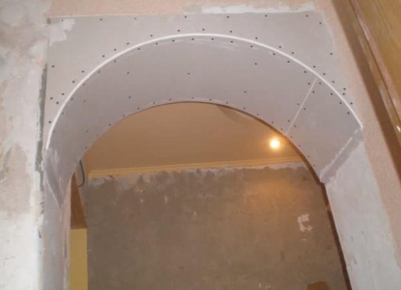 Как сделать арку в дверном проеме  с фото пошаговое