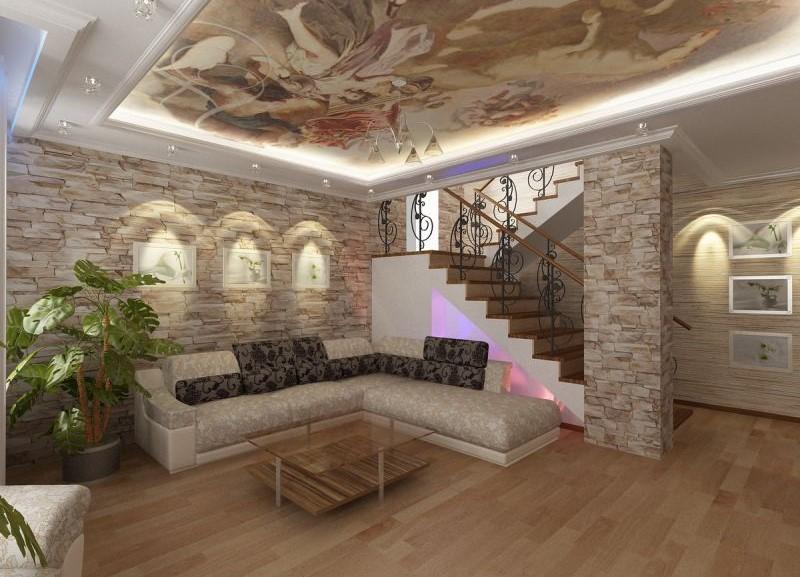 Искусственный камень в интерьере гостиной искусственный камень в интерьере