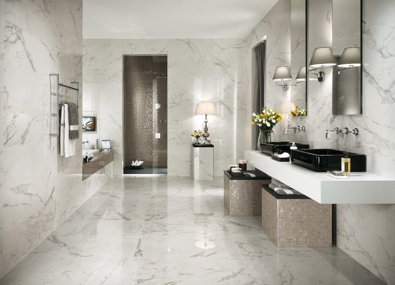 Ванная комната дизайн под мрамор фото