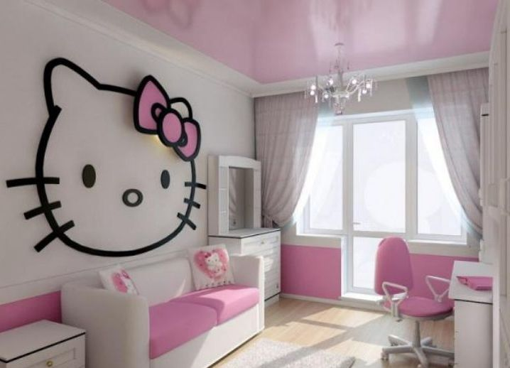 потолок натяжной фото в детскую