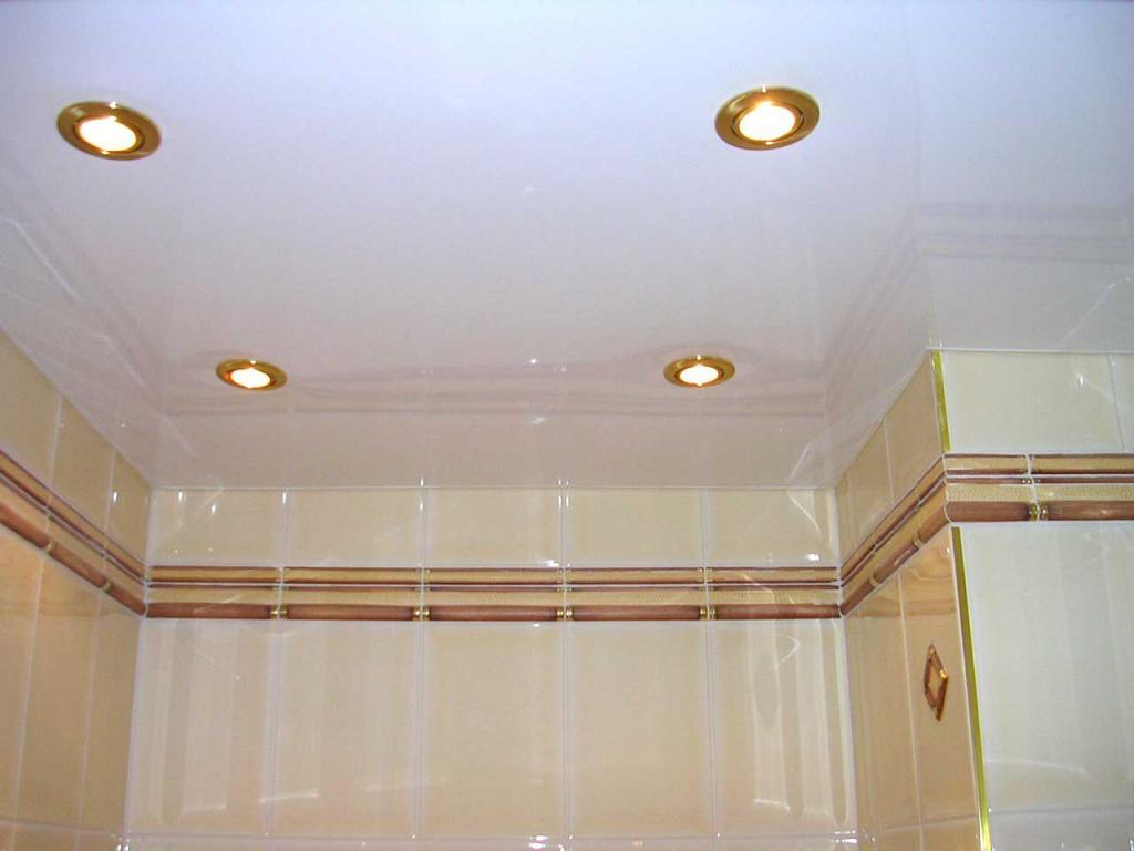 Ванная потолок фото