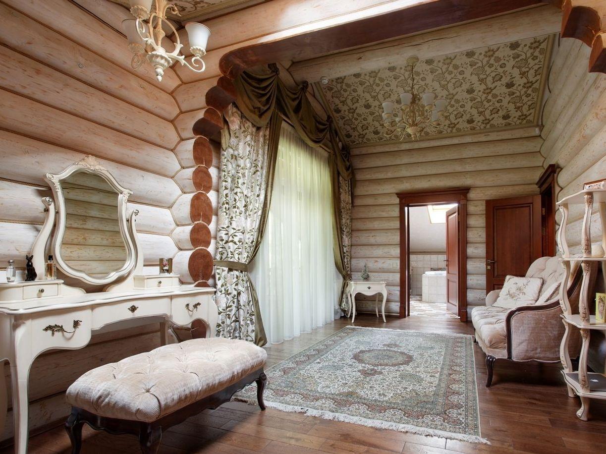 Интерьер деревянных домов из бревна фото