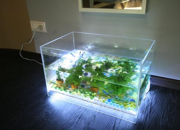 Как самим сделать подсветку в аквариум