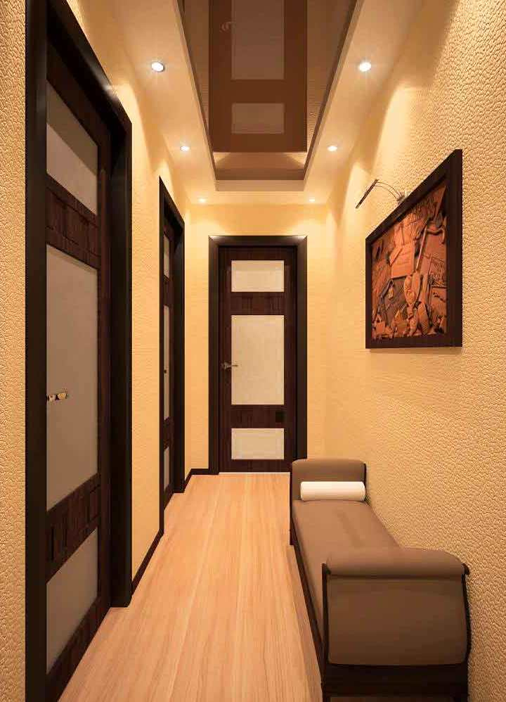 Какой потолок лучше сделать в коридоре фото 628