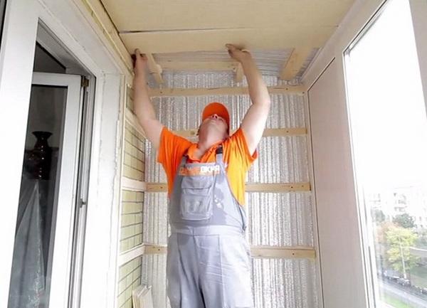 Утеплить стены на балконе своими руками видео