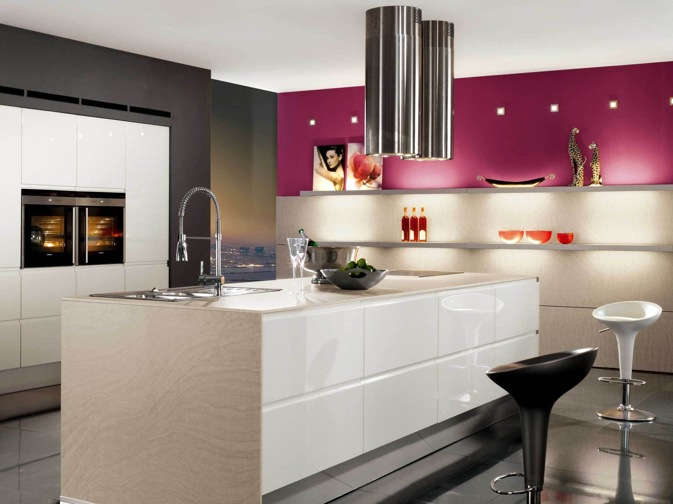 Дизайн кухни хайтек фото