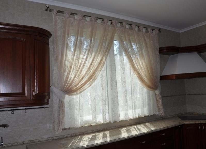 Карнизы для штор на кухню фото
