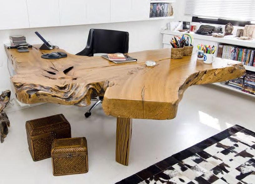 Designer Stuehle Metall Baumstamm