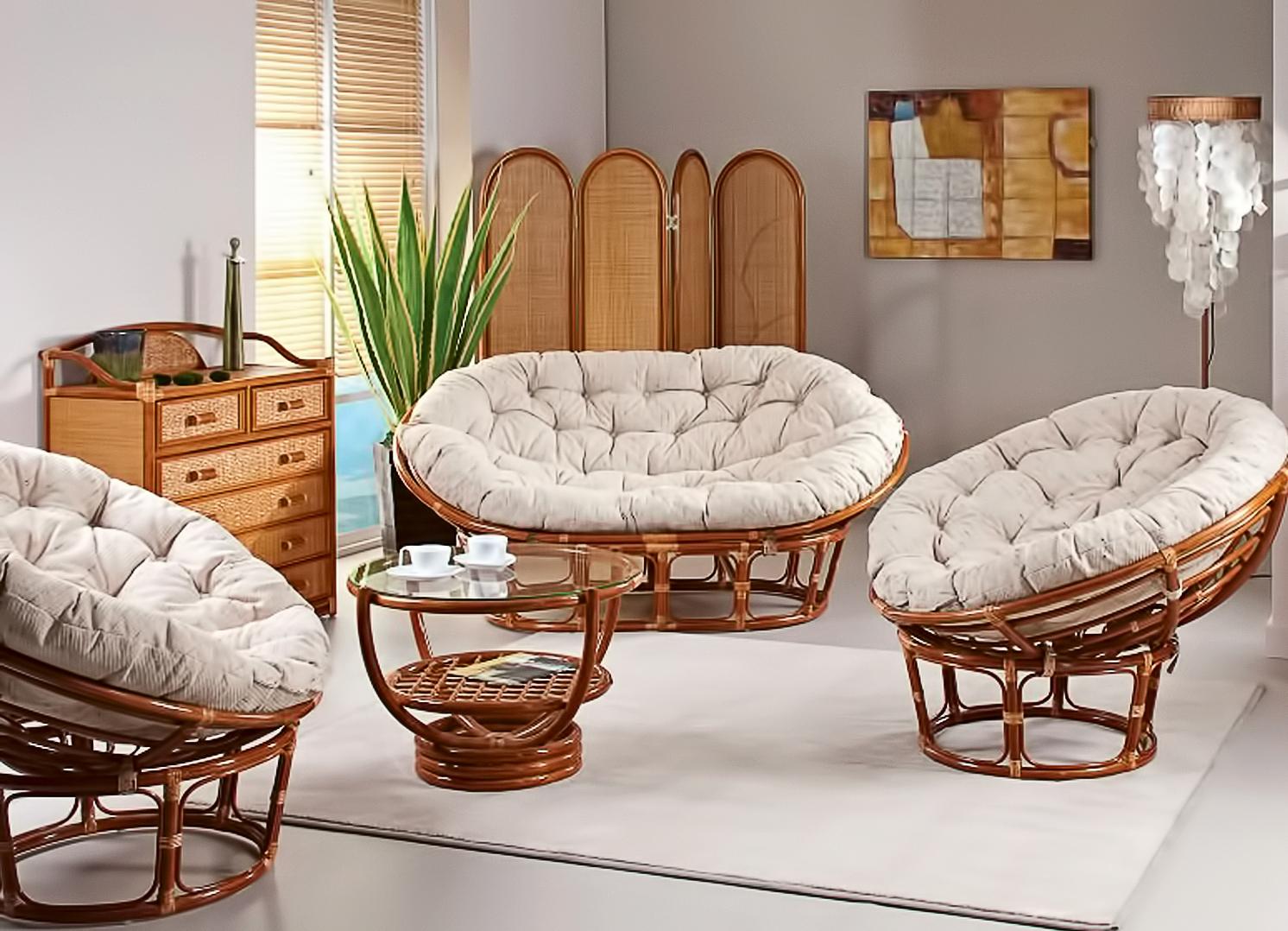Плетеная мебель для комнаты
