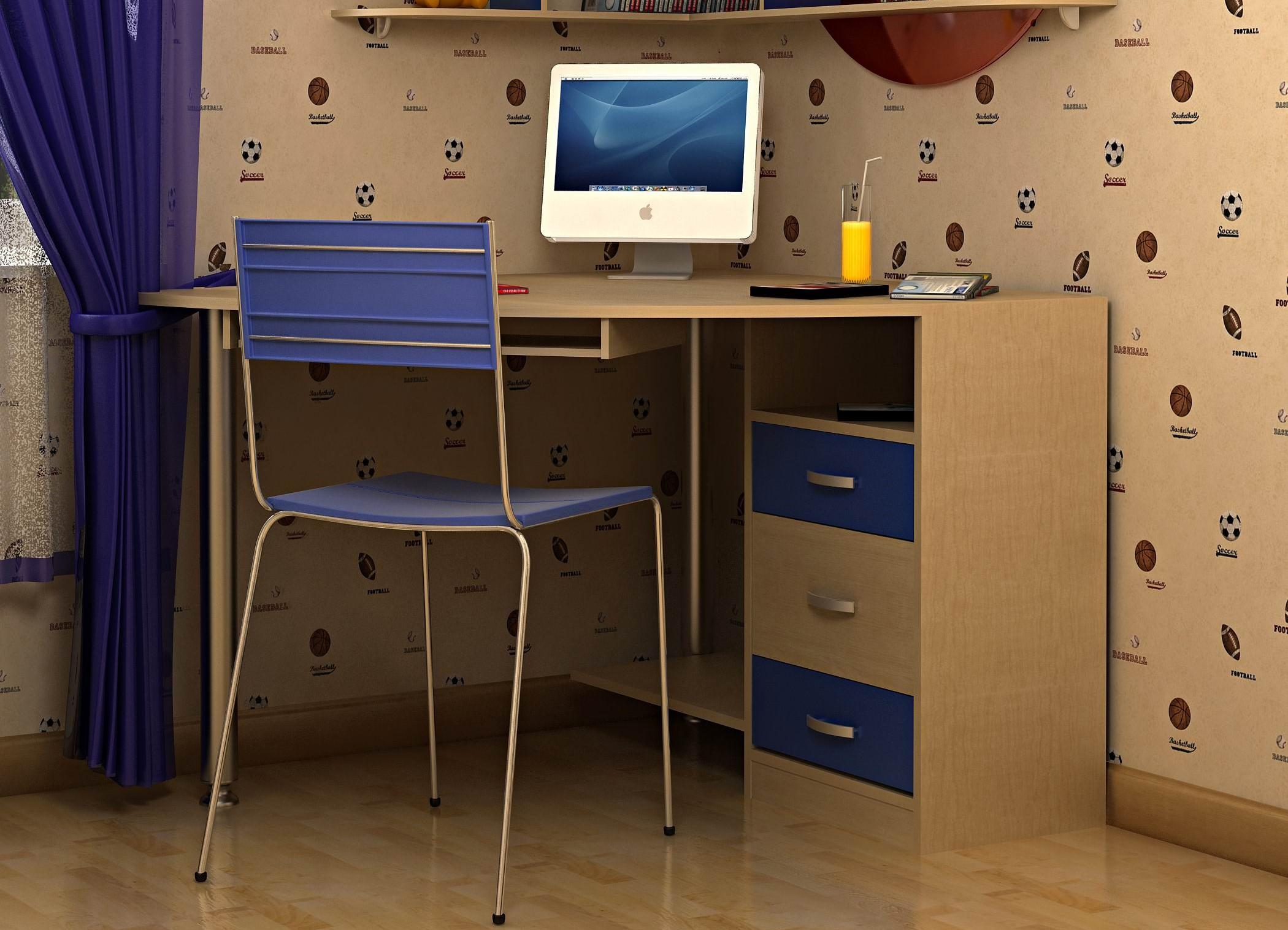 Wishlist.ru стол угловой + полки угловые в детскую.