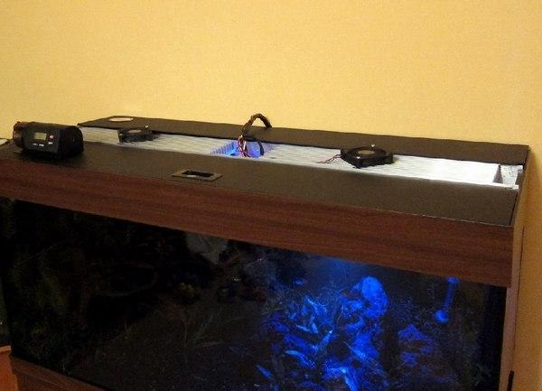 Led светильники в аквариум своими руками