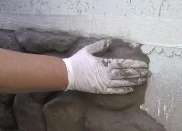 Отделка фундамента своими руками под камень