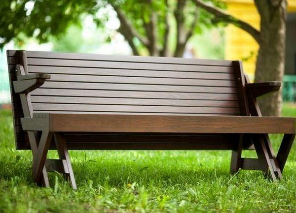 Скамейки из дерева трансформеры 138