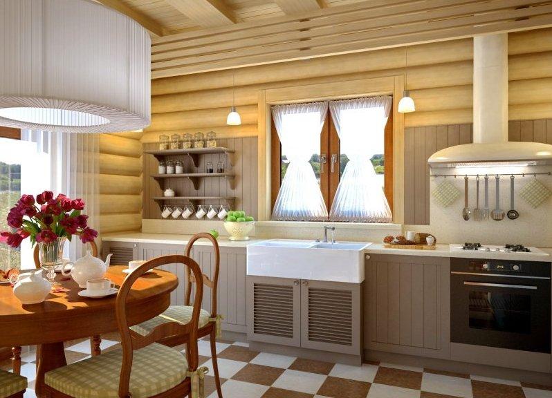Дизайн дома блок хаусом 52