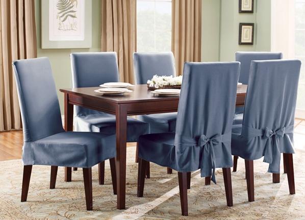 Чехлы для стульев на кухню: 49 фото оригинальных украшений