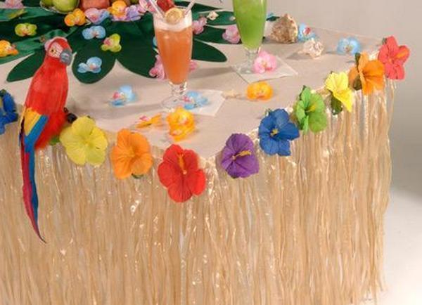 Как оформить стол на гавайскую вечеринку