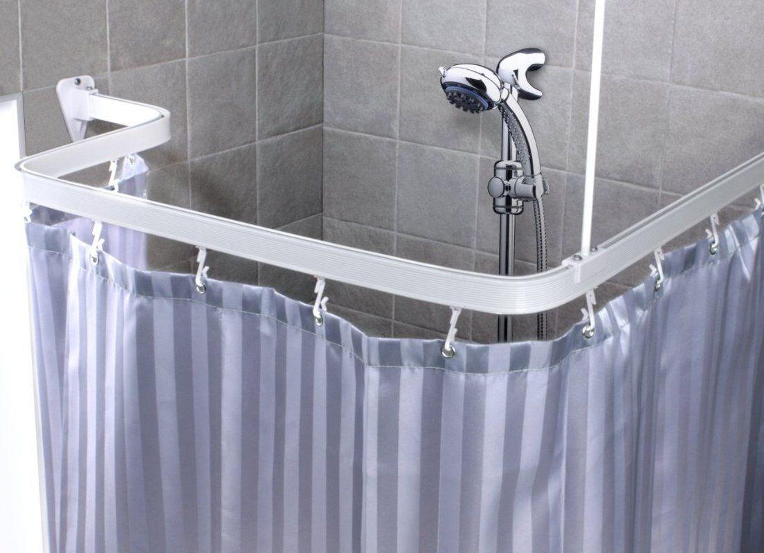 Карниз в ванную угловой
