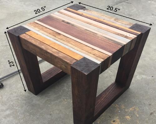 Деревянный стол из бруса своими руками