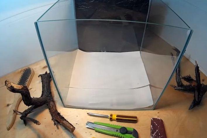Пластиковая крышка для аквариума своими руками
