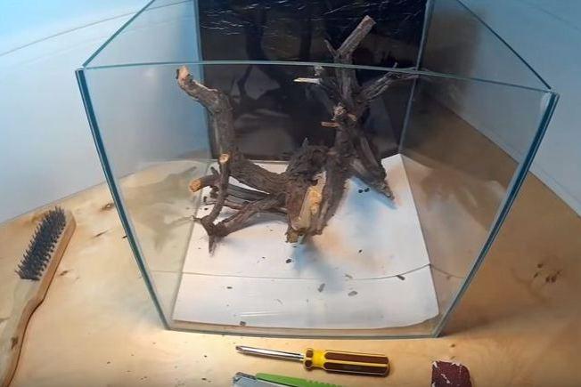 Изготовить корягу в аквариум своими руками