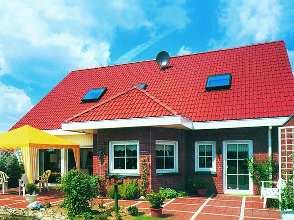 Дизайн красной крыши