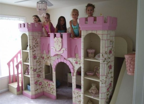 Кровать замок для девочки своими руками