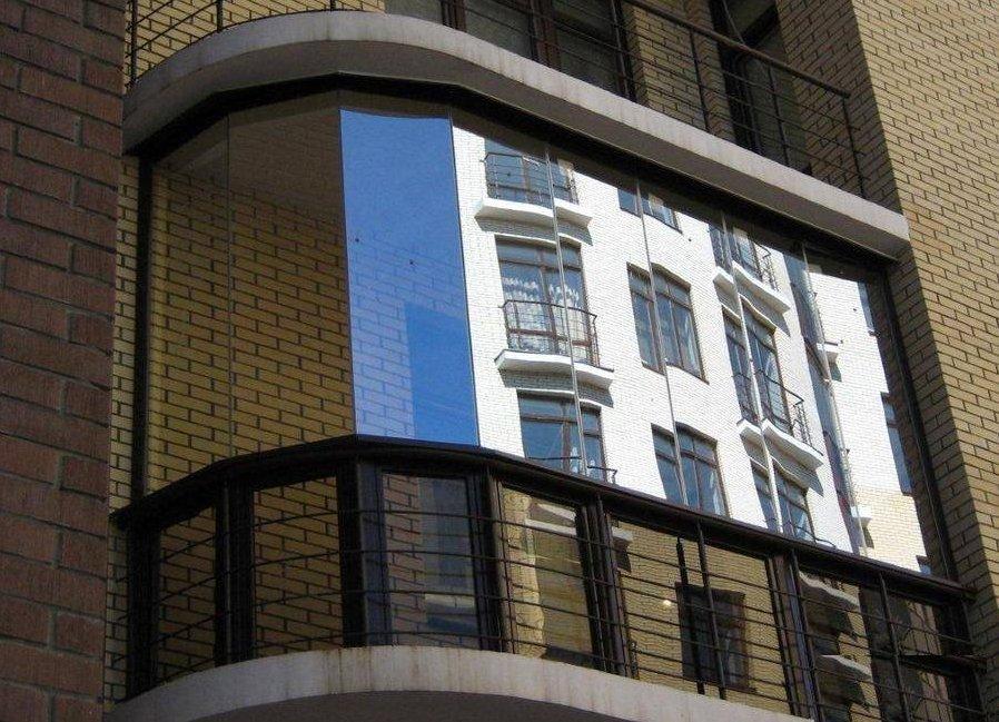 Отделка балкона с наружной стороны.