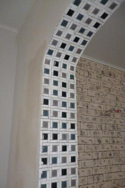 арки из мозаики в квартире день Обладая отбеливающим