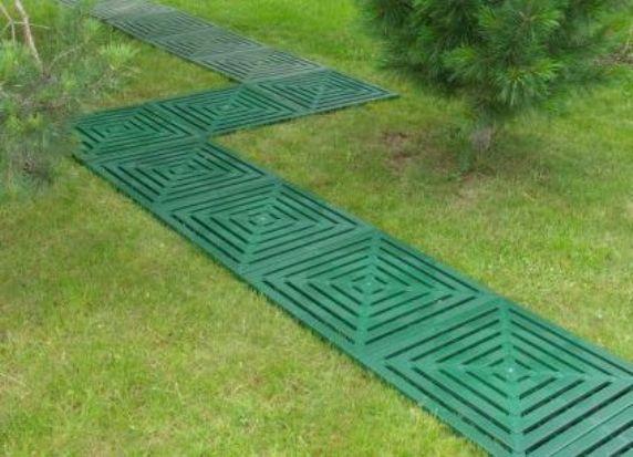 Садовая плитка для дорожек на даче